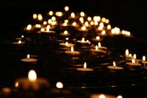 lys ved begravelse